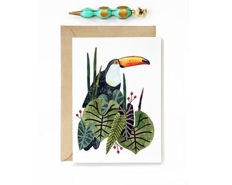 Toucan Tropical Greeting Card