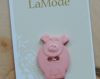 Pig Button Carded Sew On Button by La Mode Style #41353