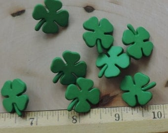 Shamrock Buttons, Four Leaf Clover Buttons, Novelty Button Package by Buttons Galore, Style 4152, Irish, St Patricks Day, Themed Buttons