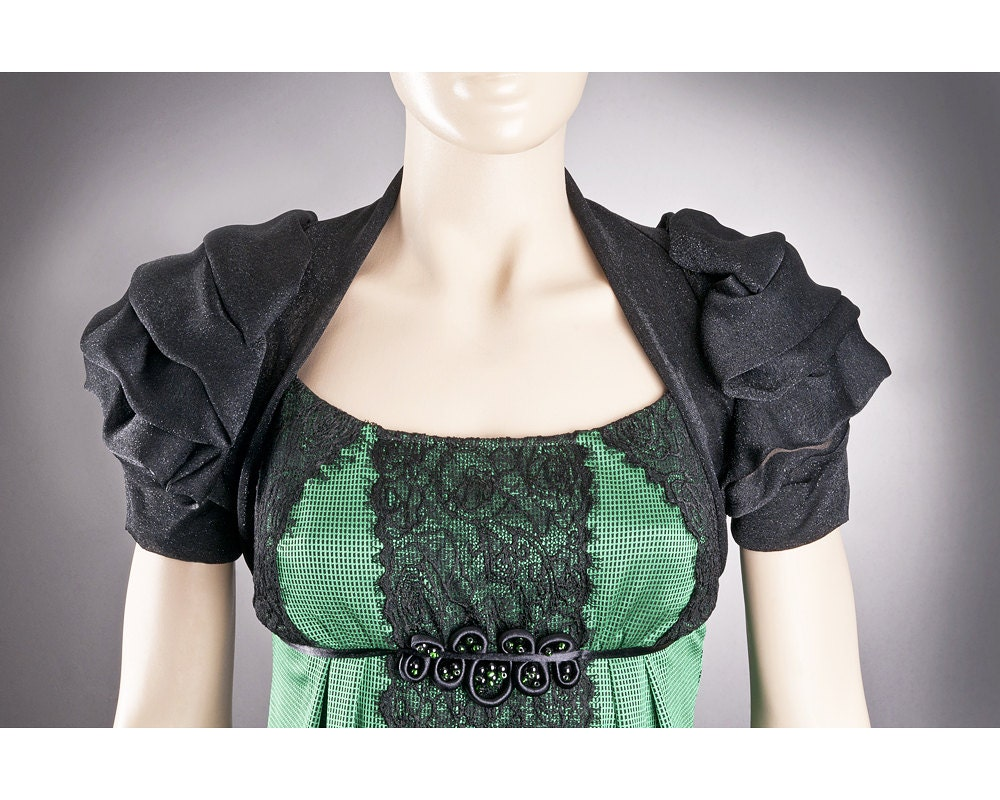 Black bolero short sleeved custom bolero designer bolero for Designer bolero