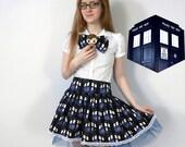 Doctor Who TARDIS Skirt- Lolita inspired ruffled skirt, custom made
