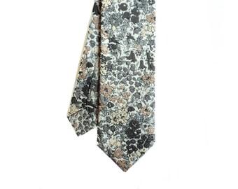 Florian - Gray/Brown Floral Men's Tie