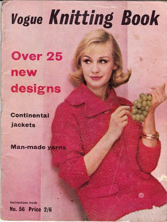Vogue Vintage Knitting Patterns : 60s Vogue Knitting Book Vintage Pattern Magazine MOD Mad Men