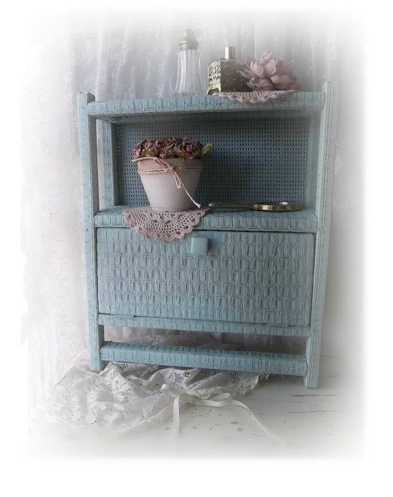 Vintage Country Bath Wicker Storage Cabinet W By 3vintagehearts