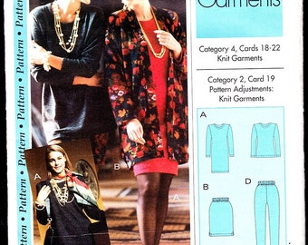 Sewing Step-by-Step Knit Garments Pattern- No Cards XS-XL or 4-22