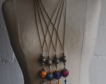 Turkish Latern Bohemian style long necklace