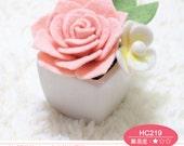 Needle Felt DIY Handmade Wool Felt Kit Small potted roses - Chinese Craft kit