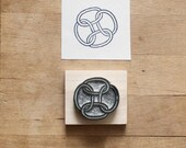 Four Rings - Hand Carved Rubber Stamp