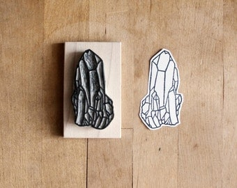 Raw Quartz No. 7 - Hand Carved Rubber Stamp