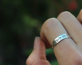 Coordinates Bar Ring - Your Personalized Place