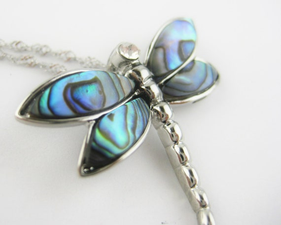 Dragonfly Abalone Necklace