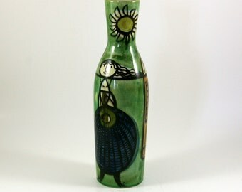 Mid Century Modern Swiss Ceramic Vase in the Manner of Stig Lindberg
