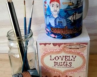 Life Aquatic mug, Bill Murray mug, Wes Anderson gift