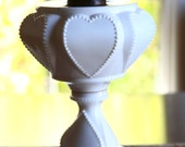 Milk Glass Queen of Hearts Oil Lamp by Dalzell, Gilmore and Leighton Co. Findlay Ohio