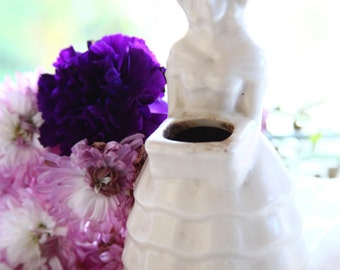 Vintage Southern Belle Pottery Vase ~ Marked USA ~ Planter