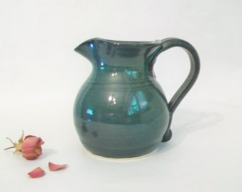 Teal / Blue/Green  Pitcher - Handmade on the Potters Wheel