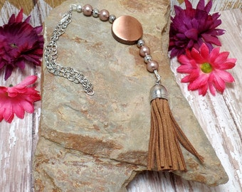 Brown Tassel Rear View Mirror Charm - Car Charm