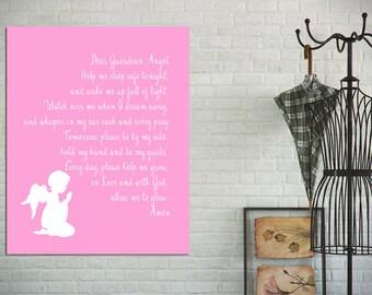 Instant Download - Guardian Angel Bedtime Prayer - 8x10 Wall art