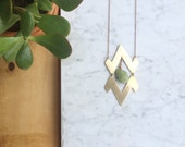 Sierra Verde Necklace | Green Mineral Nugget Boho Southwestern Statement Jewelry