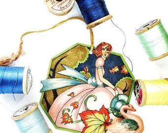 Bridge Tally Flapper Girl Red Hair Vintage 1920s Hallmark