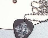 Jesus Cross Necklace - Guitar Pick Necklace