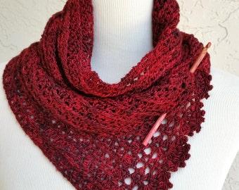 Spice Cake Scarf Crochet - PATTERN / PDF