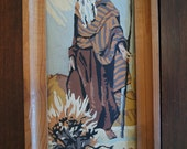 Vintage Paint By Numbers Moses and the Burning Bush on Canvas