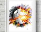 Death Star: print, star wars