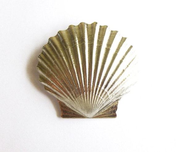 Beach Wedding Hair Clip Silver Seashell Barrette Bride Bridal Bridesmaid Hair Accessories Nautical Mermaid Sea Shell Ariel Womens Gift