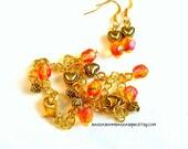 USA Mango Czech Bracelet Earring Set - BaddaBoomBaddaBing Jewelry and Gifts