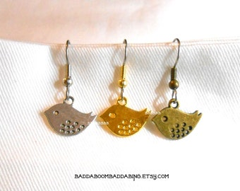 Tweety Bird Earrings - Surgical Steel French Hooks