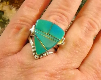 Native American Turquoise Sterling Ring
