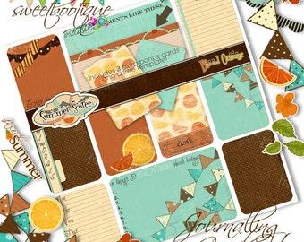 SUMMER SOIREE - Blood Orange - Project Life Style Journalling Card Set - Printable - Digital Download - Smash Journal - Scrapbook