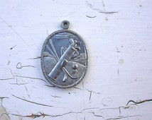 Metal Pendant Golf Scene, Silver OX, Scrapbook, Jewelry Making, Collage, Antiqued Silver, Vintage Golf , Golf Charm, Golf Jewelry,