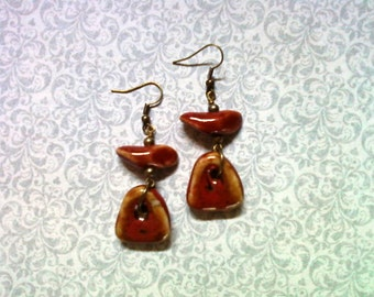 Red Ceramic Earrings (1815)