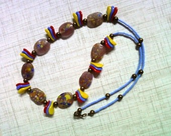 Colorful Ethnic Inspired Necklace (2099)