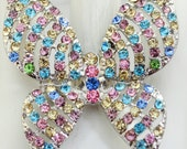 Pastel Butterfly Ring/Statement Ring/Rhinestone/Gift For Her/Spring/Summer Jewelry/Wedding Jewelry/Nature Jewelry/Under 20 USD/Adjustable