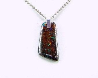 Koroit Boulder Opal Sterling Silver Pendant - N810