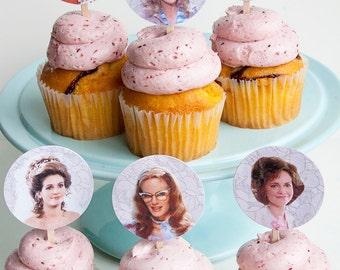 SUGAR MAGNOLIAS cupcake toppers