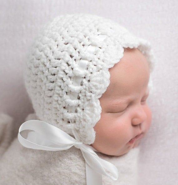 Crochet Baby Bonnet Baby Girl Crochet Hat Coming Home