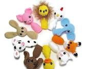 Crochet Animal Finger Puppet - Finger Puppets Crochet - Finger Puppet for Kids - Amigurumi Finger Puppets - Playtime Puppet