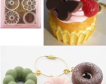 Padico doughnut mold/doughnut mold/cupcake mold/miniature sweets mold/flexible cupcake mold/Padico mold/silicon mold/resin mold