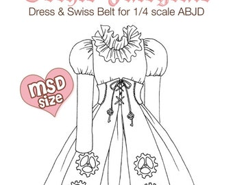 DCP05 - MSD size Gothic Fairytale dress pattern Digital Download