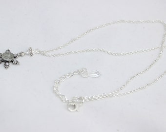 "Frozen Snowflake Necklace 3/4"" inch (Once Upon A Time)"