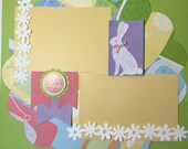 Easter Scrapbook Page, Premade Easter Scrapbook Page, Easter Scrapbook Page Layout, 12 x 12 Album Pages, Holiday Scrapbook Page