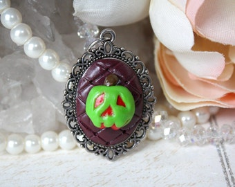 Poison Apple Cameo Necklace