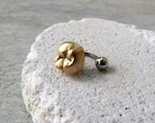 Human tooth rook tragus helix cartilage piercing earring