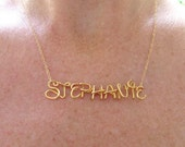 Disney Style Custom Name Necklace, 14K Gold Fill Chain, Personalized Name, Up to 9 letters, Girls Name, Personalized Gifts 4 Girls, Under 25