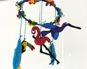 Baby Mobile for Nursery - Exotic birds
