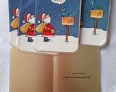 Vintage Neiman Marcus Just Moved Christmas Cards New Address